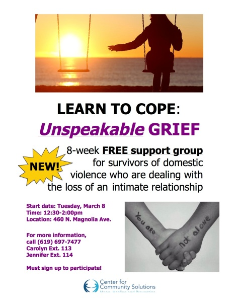 ccs Carolyns support group CCS Unspeakable Grief group flyer_with date
