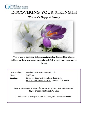 ccs Taylors Trauma Survivor Support Group FEB 2016