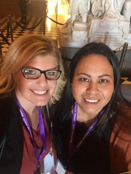 Center for Community Solutions' Lindsay Riedel and Strong Hearted Native Women's Coalition's Linda Schwartz on Policy Advocacy Day in Sacramento, Feb 29-March 1.